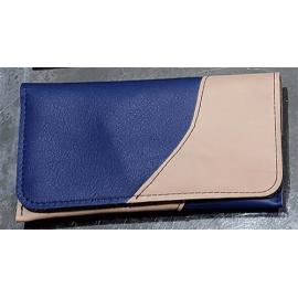 Blague à tabac bicolore Relax - Beige et bleu foncé