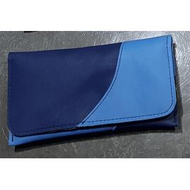 Blague à tabac bicolore Relax - Bleu clair et bleu foncé